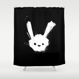 minima - splatter rabbit  Shower Curtain