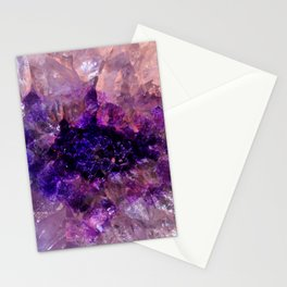 """""""Purple and Violet Agate Crystal"""" Stationery Cards"""