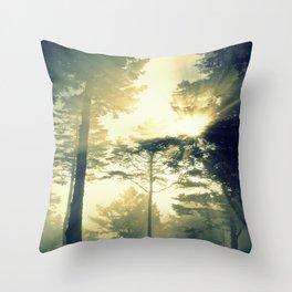 Elk Trees Throw Pillow