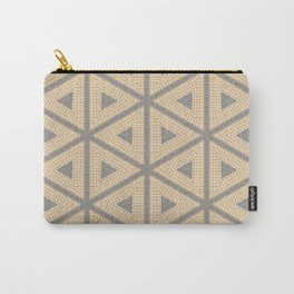 Textured Tile Triangle Pattern Design Carry-All Pouch