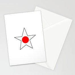 Flag of japan 4 Stationery Cards