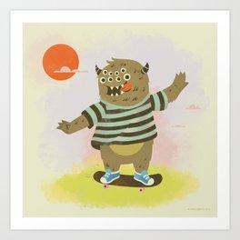 Skate Away Art Print