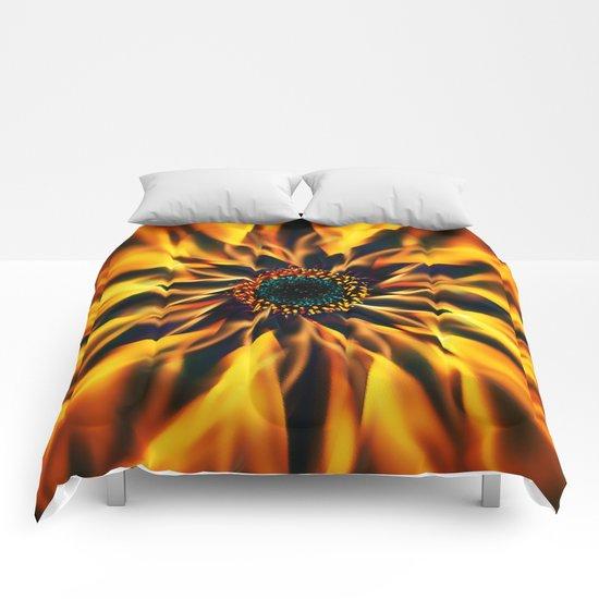 Flaming Love Flower Comforters