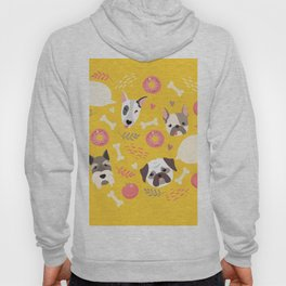 Cute dog illustration color card with cloud place for your text Hoody