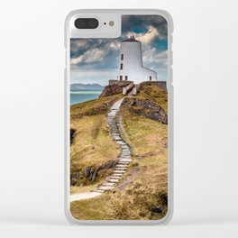 Twr Mawr Lighthouse Clear iPhone Case
