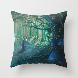 Old One Returning Throw Pillow