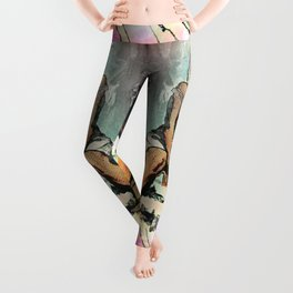 Facing Away From The Darkness Leggings