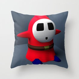 a Shy Guy Throw Pillow