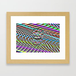 The second Colour of facets Framed Art Print