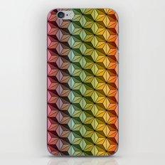 Wooden Asanoha Colorful iPhone & iPod Skin
