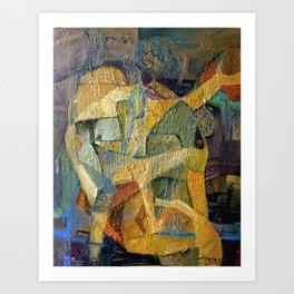Dance of Colours, Birth of Shape Art Print