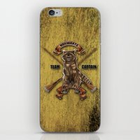 hufflepuff iPhone & iPod Skins featuring Hufflepuff  Hogwarts Team Captain by JanaProject
