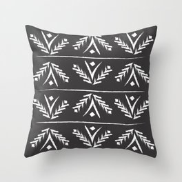 charcoal wreath Throw Pillow