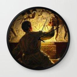 The Life of the Artist by Kristian Zahrtmann Wall Clock