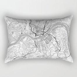 Cincinnati Map Line Rectangular Pillow