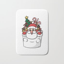 Cute Pocket Santa Bath Mat