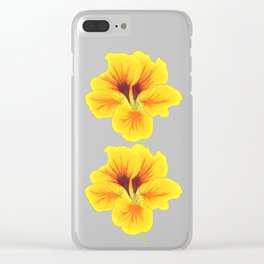 Indian cress flower - illustration Clear iPhone Case