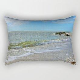 The Beach at Boca Rectangular Pillow