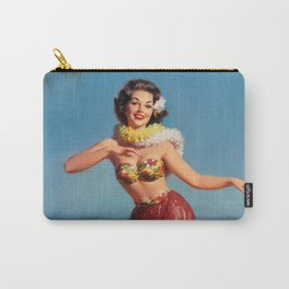 Hula Girl Vintage Pin Up Art Carry-All Pouch