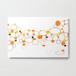 Orange Riverbed Metal Print