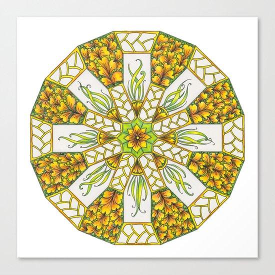 Fall Mandala Zendala Canvas Print