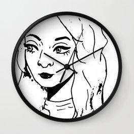 Eye Liner Girl - Tori Wall Clock