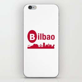 Bilbao, home of the Guggenheim and Athletic in Spain iPhone Skin