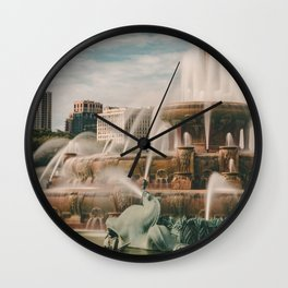 Fountain View 3 Wall Clock