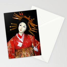 Oiran in Red Stationery Cards