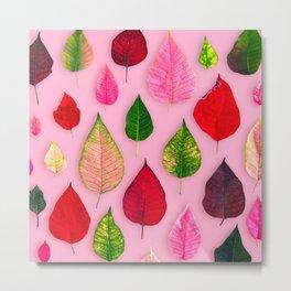 Plants on Pink Metal Print