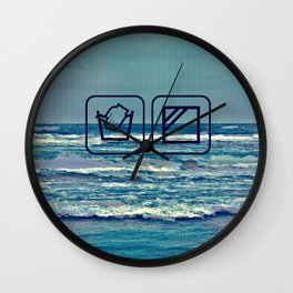 GLITCH wash your soul Wall Clock
