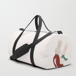 Couple of rabbits in love Duffle Bag