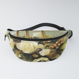 Festive Evening Gold Candle Centerpiece Fanny Pack