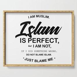 I Am Muslim Serving Tray