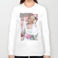seashell Long Sleeve T-shirts featuring SEASHELL GEISHA by Devis Pederzini