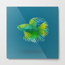 Japanese Fighting Fish. Metal Print