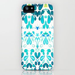 Memories of Summer, Bright Sea Blue and Yellow iPhone Case