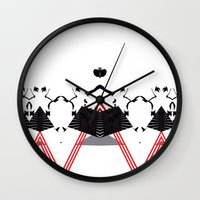 rorschach Wall Clocks featuring Rorschach by Isaak_Rodriguez