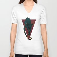 royal V-neck T-shirts featuring Royal by Lenka Simeckova