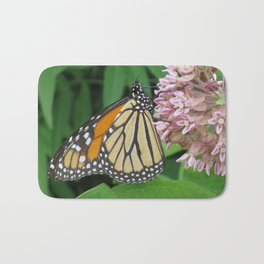 Monarch and Milkweed Bath Mat