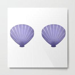 Purple Sea Shells Metal Print