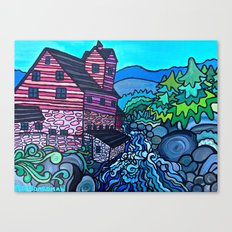 MILL ON THE RIVER Canvas Print