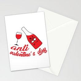 Anti valentine's day Stationery Cards