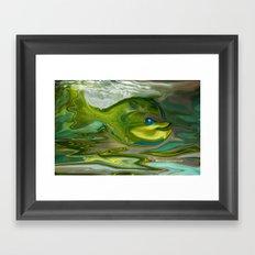 Smilen Sam The Fish...For Kids Framed Art Print