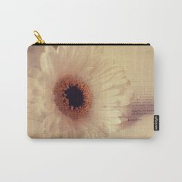 White Gerbera Daisy Carry-All Pouch