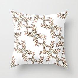 Elegant lace autumn pattern Throw Pillow