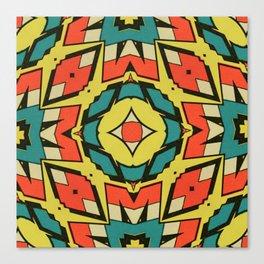 Cap Primary Pattern Canvas Print