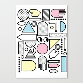 Shapes for Dayz Canvas Print