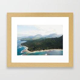 Kauai Coastline Framed Art Print