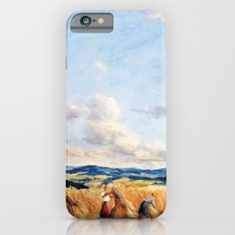 Harvest in the Czech-Moravian Highlands - Tavik Frantisek Simon iPhone Case